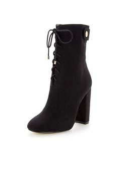 Gold Zip High Leg Ankle Boot