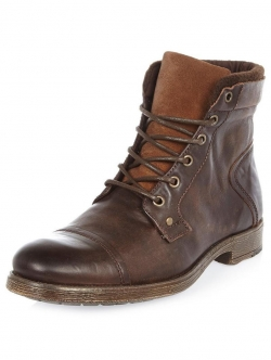 River Island Leather Worker Boot