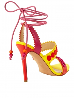 Unique Harlem Tie Up Heeled Sandal