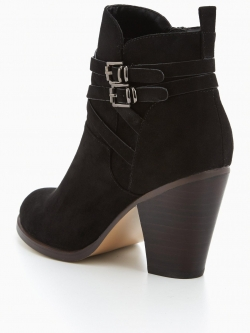 Block Heeled Ankle Boot