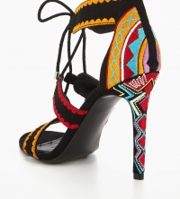 Sassy Embroidered Heeled Sandal - Multi