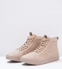 High-top trainers - light brown